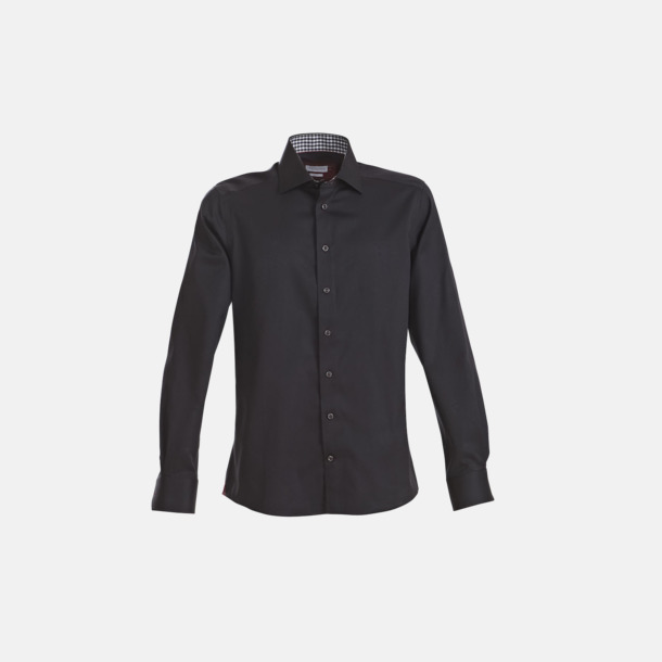 Svart/Röd (herr) Exklusiva skjortor i klassisk design med reklamtryck
