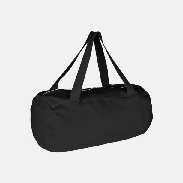 Svart Runda, mjuka väskor med reklamtryck