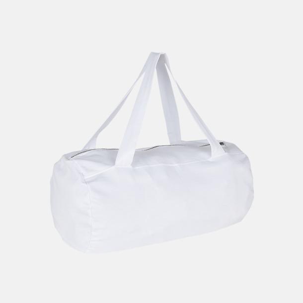 Vit Runda, mjuka väskor med reklamtryck
