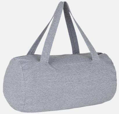 Grey Melange Runda, mjuka väskor med reklamtryck