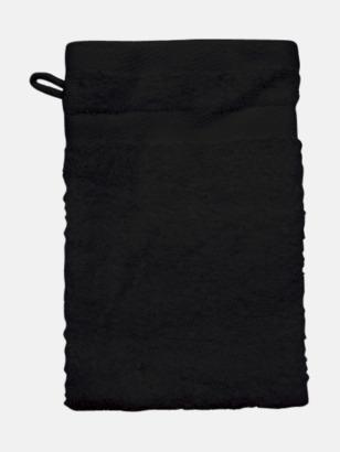 Svart (Handske) Tjocka handdukar med egen logga
