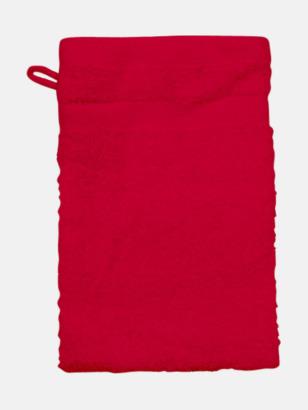Röd (Handske) Tjocka handdukar med egen logga