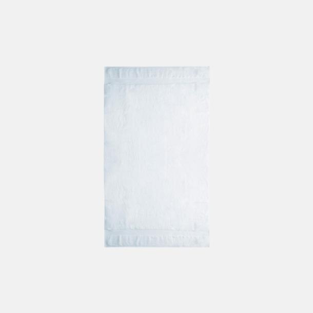 Vit Tjocka handdukar med egen logga