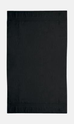 Svart Tjocka handdukar med egen logga