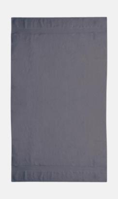 Grå Tjocka handdukar med egen logga