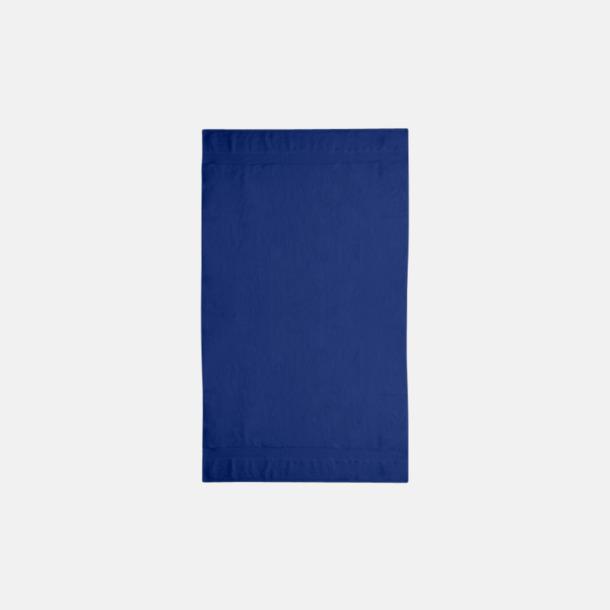Marinblå Tjocka handdukar med egen logga