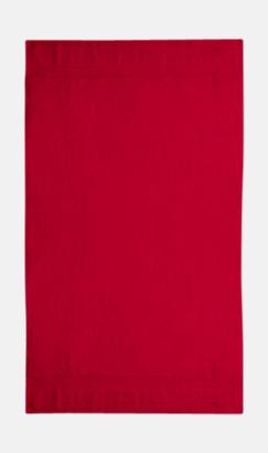 Röd Tjocka handdukar med egen logga