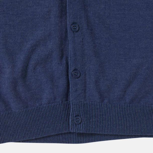 Ärmlösa pullovers med knäppning - med reklamlogo