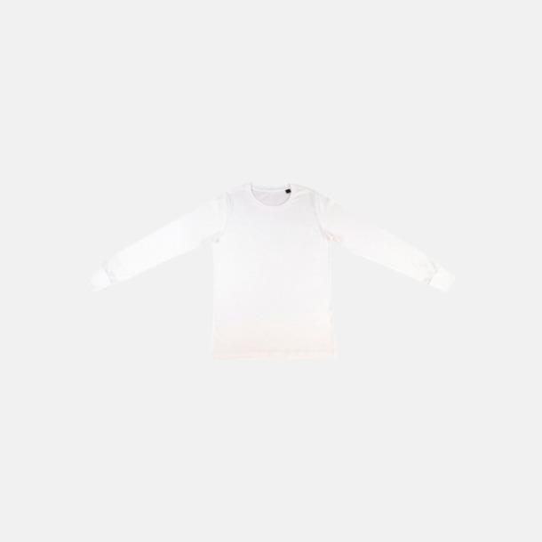 Vit (herr) Långärmade eko t-shirts med reklamtryck