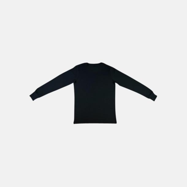 Svart (herr) Långärmade eko t-shirts med reklamtryck