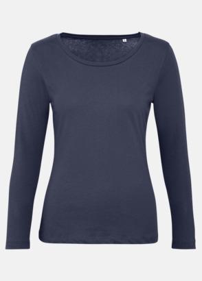 Urban Navy (dam) Neutrala, långärmade eko t-shirts med reklamtryck