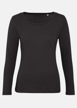 Svart (dam) Neutrala, långärmade eko t-shirts med reklamtryck