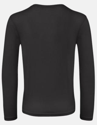 Neutrala, långärmade eko t-shirts med reklamtryck