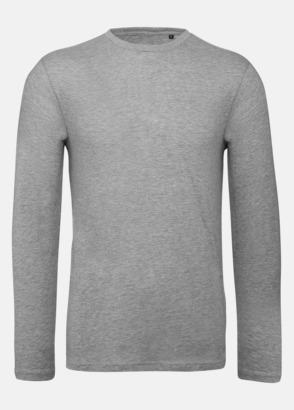 Sport Grey heather (herr) Neutrala, långärmade eko t-shirts med reklamtryck
