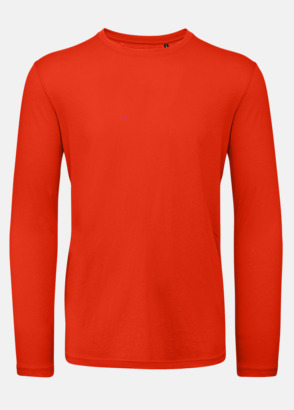 Röd (herr) Neutrala, långärmade eko t-shirts med reklamtryck