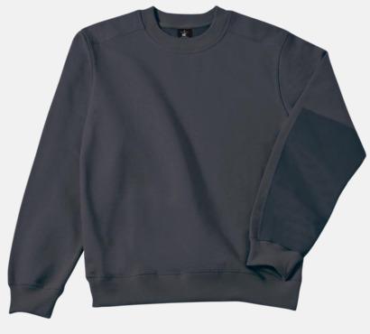 Mörkgrå (solid) Unisex arbetströjor med reklamtryck