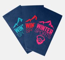 Vävda handdukar med flera märkningsmöjligheter
