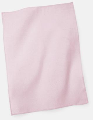 Pastel Pink Billiga kökshanddukar med reklambrodyr