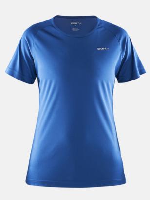 Sweden blue (dam) Funktion t-shirts från Craft med reklamtryck
