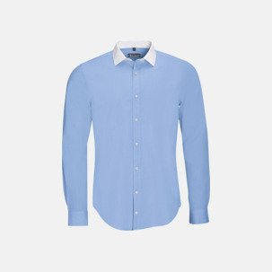 Skjortor med kontrastkrage - med reklamtryck