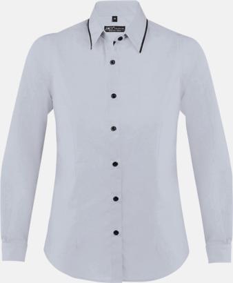 Opal Grey/Svart (dam) Skjortor med diskreta kontrastfärger med reklamtryck
