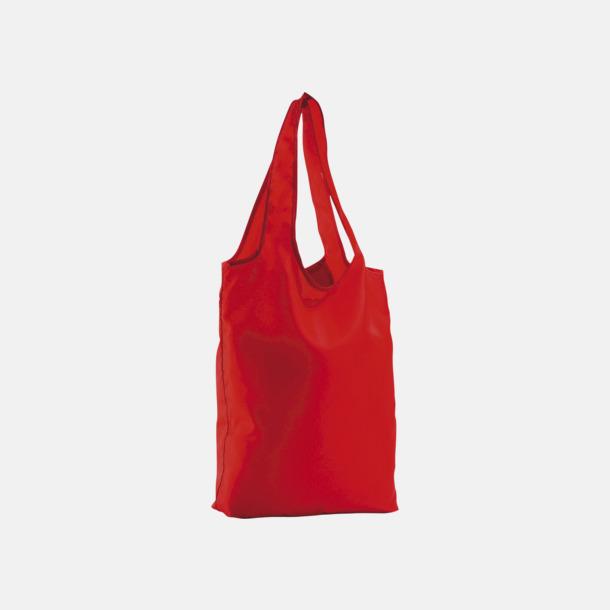 Röd Vikbara tygkassar med reklamtryck