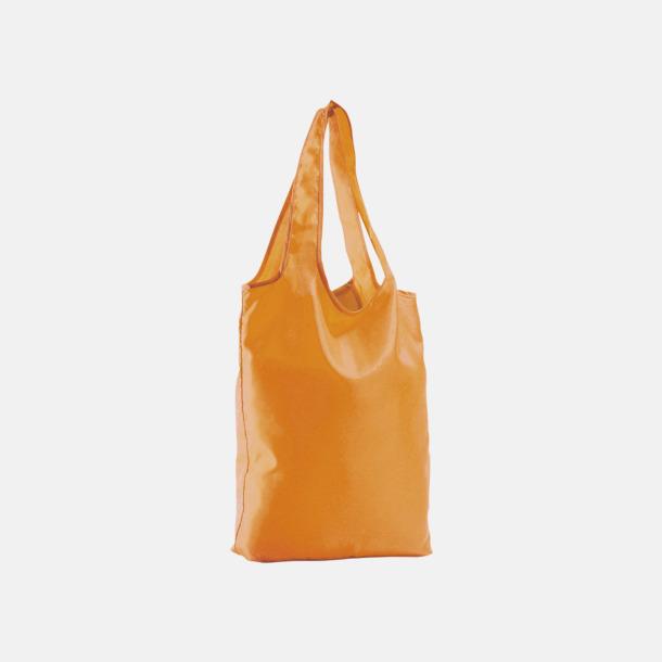 Orange Vikbara tygkassar med reklamtryck