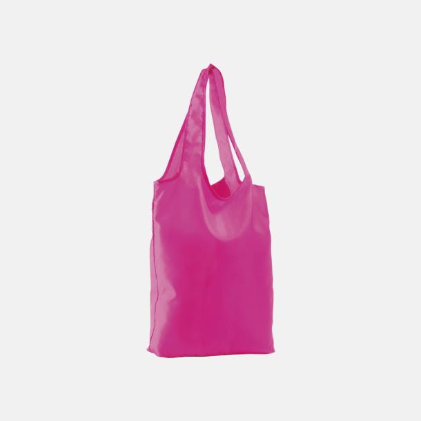 Neon Pink Vikbara tygkassar med reklamtryck