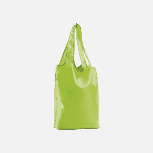Neon Lime Vikbara tygkassar med reklamtryck