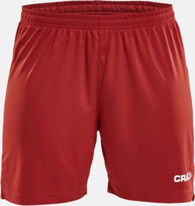Bright Red (dam) Matchshorts från Craft med eget reklamtryck