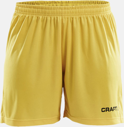 Sweden Yellow (dam) Matchshorts från Craft med eget reklamtryck