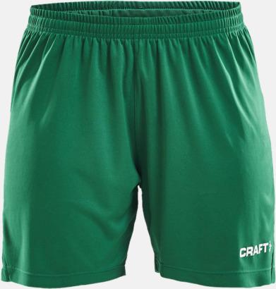 Team Green (dam) Matchshorts från Craft med eget reklamtryck