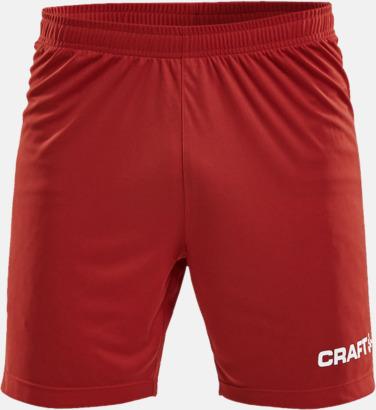 Bright Red (herr) Matchshorts från Craft med eget reklamtryck