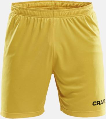 Sweden Yellow (herr) Matchshorts från Craft med eget reklamtryck