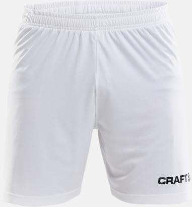 Vit (herr) Matchshorts från Craft med eget reklamtryck