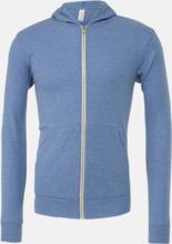 Blixtlås triblend hoodies med reklamtryck
