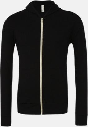 Solid Black Triblend Blixtlås triblend hoodies med reklamtryck