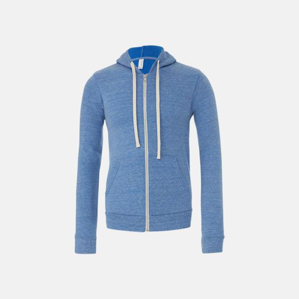 Blue Triblend (heather) Triblend huvtröjor med reklamtryck