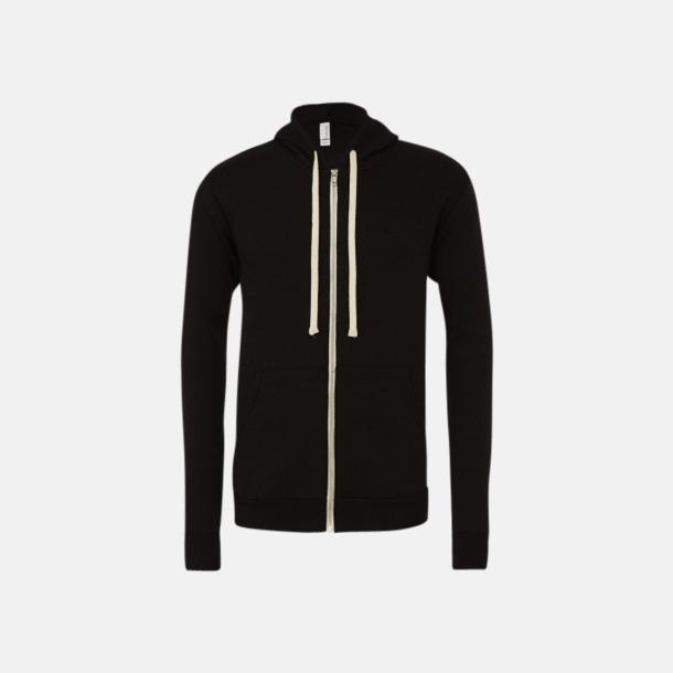 Solid Black Triblend Triblend huvtröjor med reklamtryck