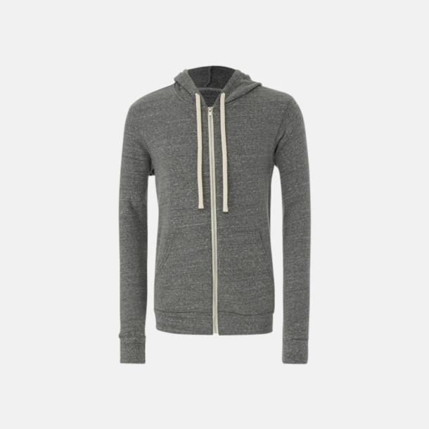 Grey Triblend (heather) Triblend huvtröjor med reklamtryck