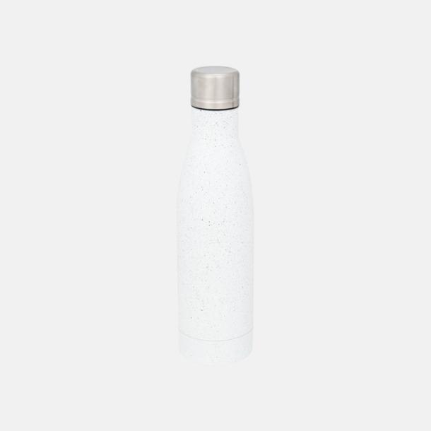 Vit (speckled) Sutairu flaskan i annorlunda designer med reklamtryck