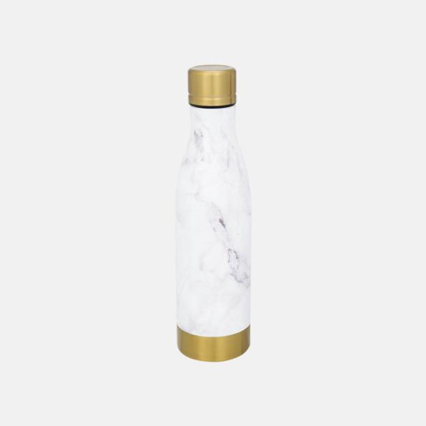 Vit/Gold (marble) Sutairu flaskan i annorlunda designer med reklamtryck