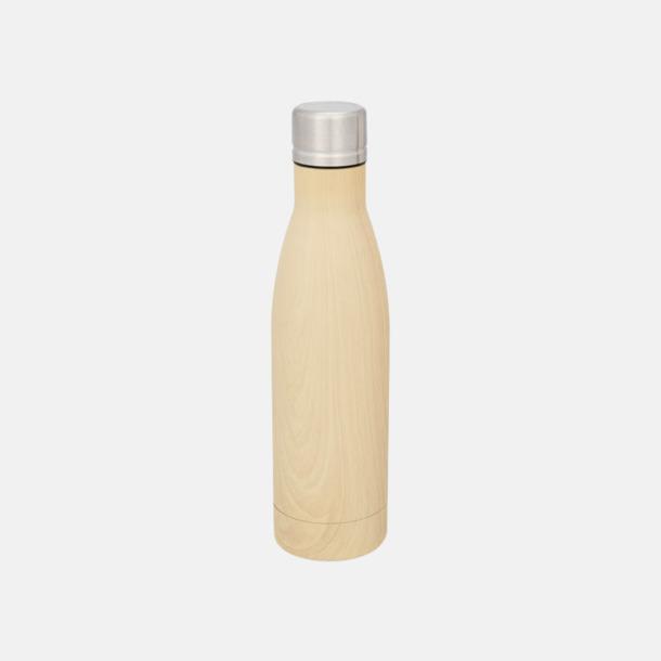 Brun (wood) Sutairu flaskan i annorlunda designer med reklamtryck
