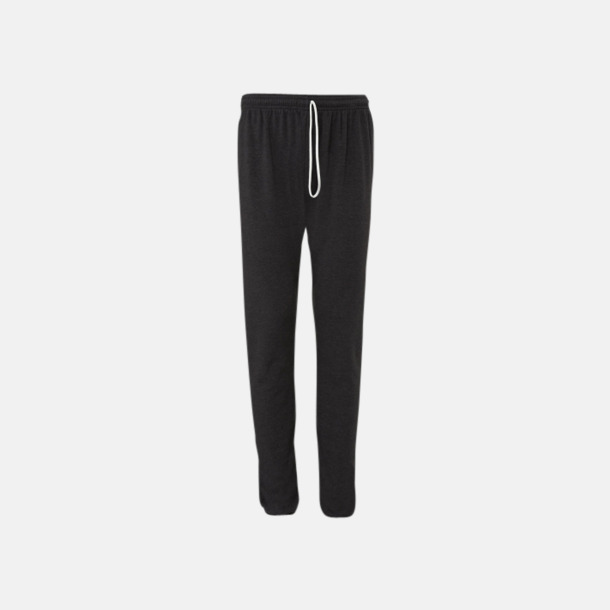 Dark Grey Heather Scrunch pants i unisexmodell med reklamtryck
