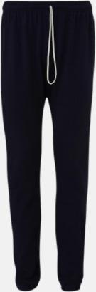 Marinblå Scrunch pants i unisexmodell med reklamtryck