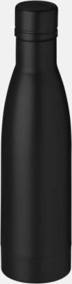 Svart Vackra termosflaskor med reklamtryck