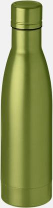 Grön Vackra termosflaskor med reklamtryck