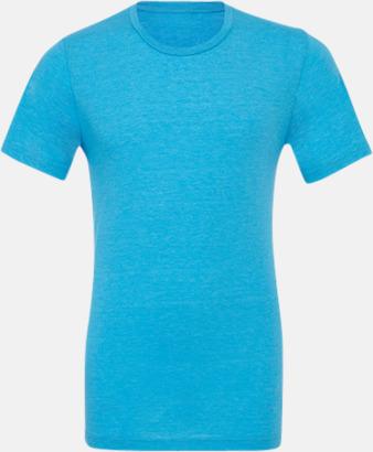 Aqua Triblend heather (unisex) T-shirts för vuxna & barn - med reklamtryck