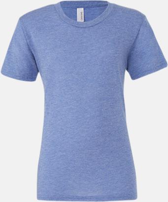 Blue Triblend heather (unisex) T-shirts för vuxna & barn - med reklamtryck