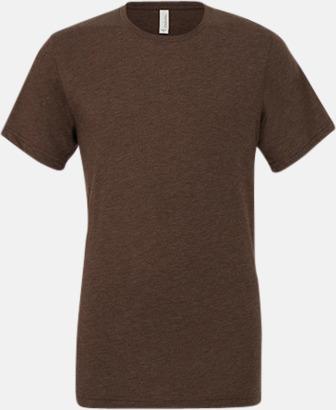 Brown Triblend heather (unisex) T-shirts för vuxna & barn - med reklamtryck